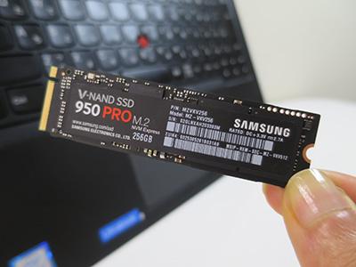 サムソン 950 PRO NVMe SSD yoga 260に換装